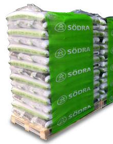 Svenske Premium træpiller 6 MM i 12,5kg sække / 900kg. palle